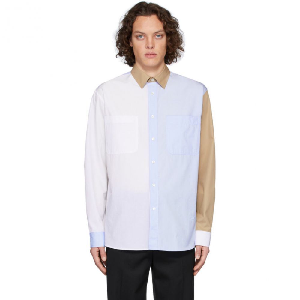 J.W.アンダーソン JW Anderson メンズ シャツ トップス【White & Blue Chest Pockets Shirt】Blue