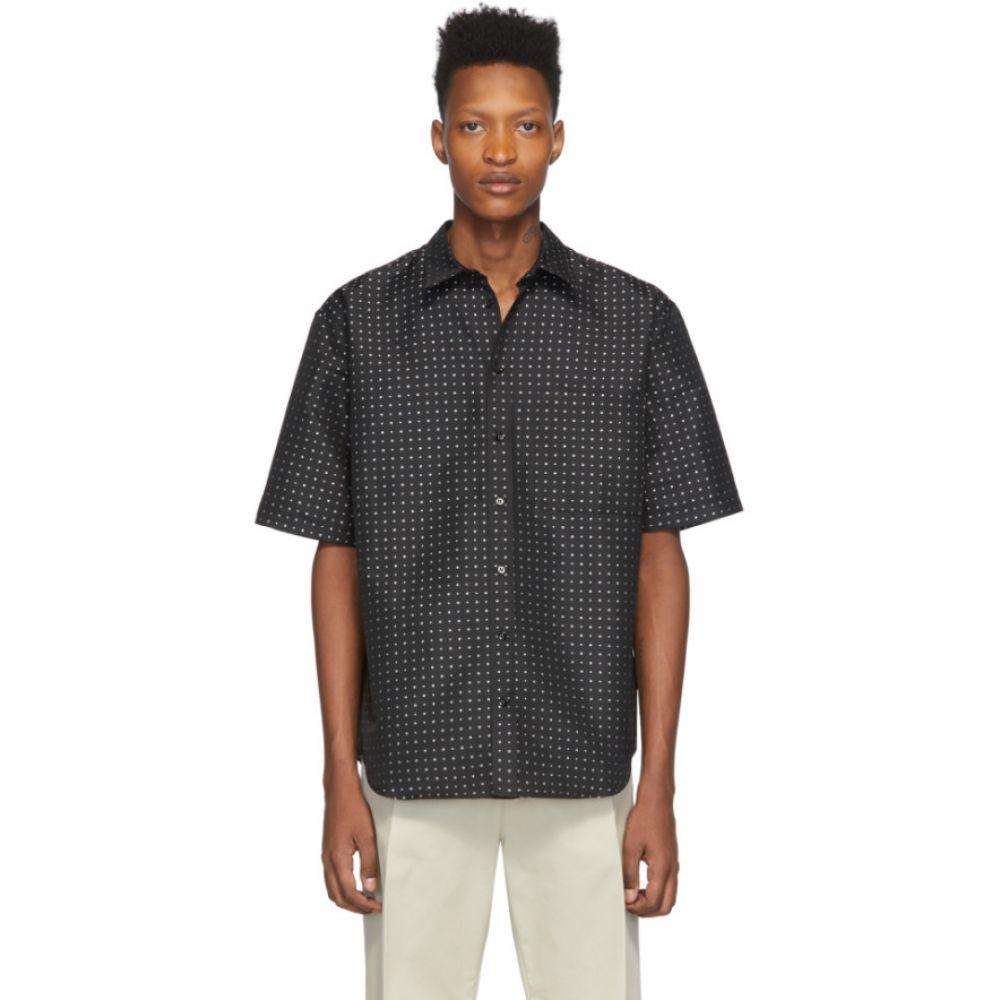 マルセロバーロン Marcelo Burlon County of Milan メンズ シャツ トップス【Black Jacquard Star Shirt】Black/White