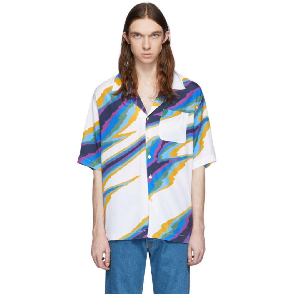 ミッソーニ Missoni メンズ 半袖シャツ トップス【White Printed Short Sleeve Shirt】White