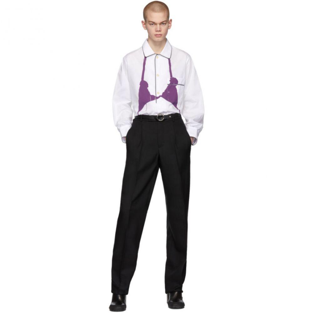 ランダム アイデンティティーズ Random Identities メンズ シャツ トップス【White & Purple PJ Bra Shirt】