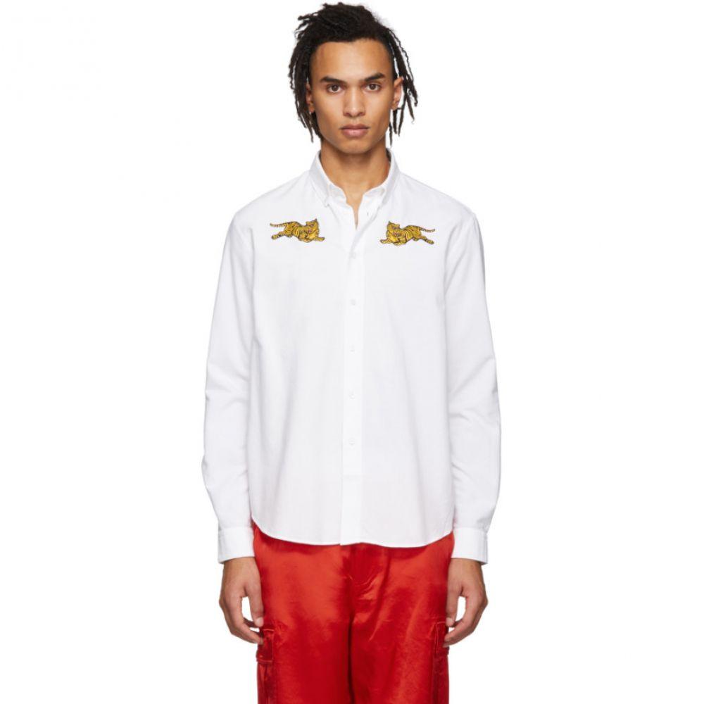 ケンゾー Kenzo メンズ シャツ トップス【White Jumping Tiger Shirt】