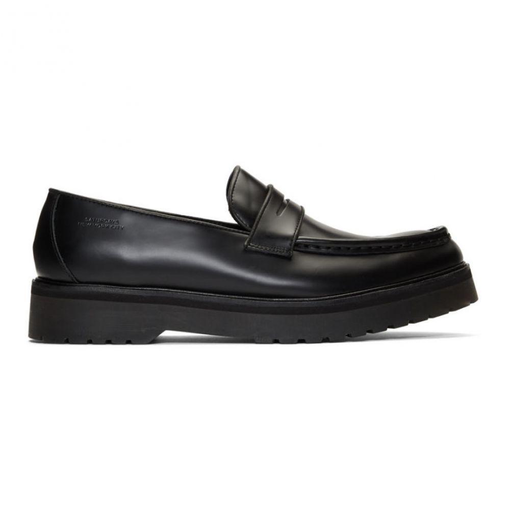 サタデーニューヨーク Saturdays NYC メンズ ローファー シューズ・靴【Black Idris Loafers】Black