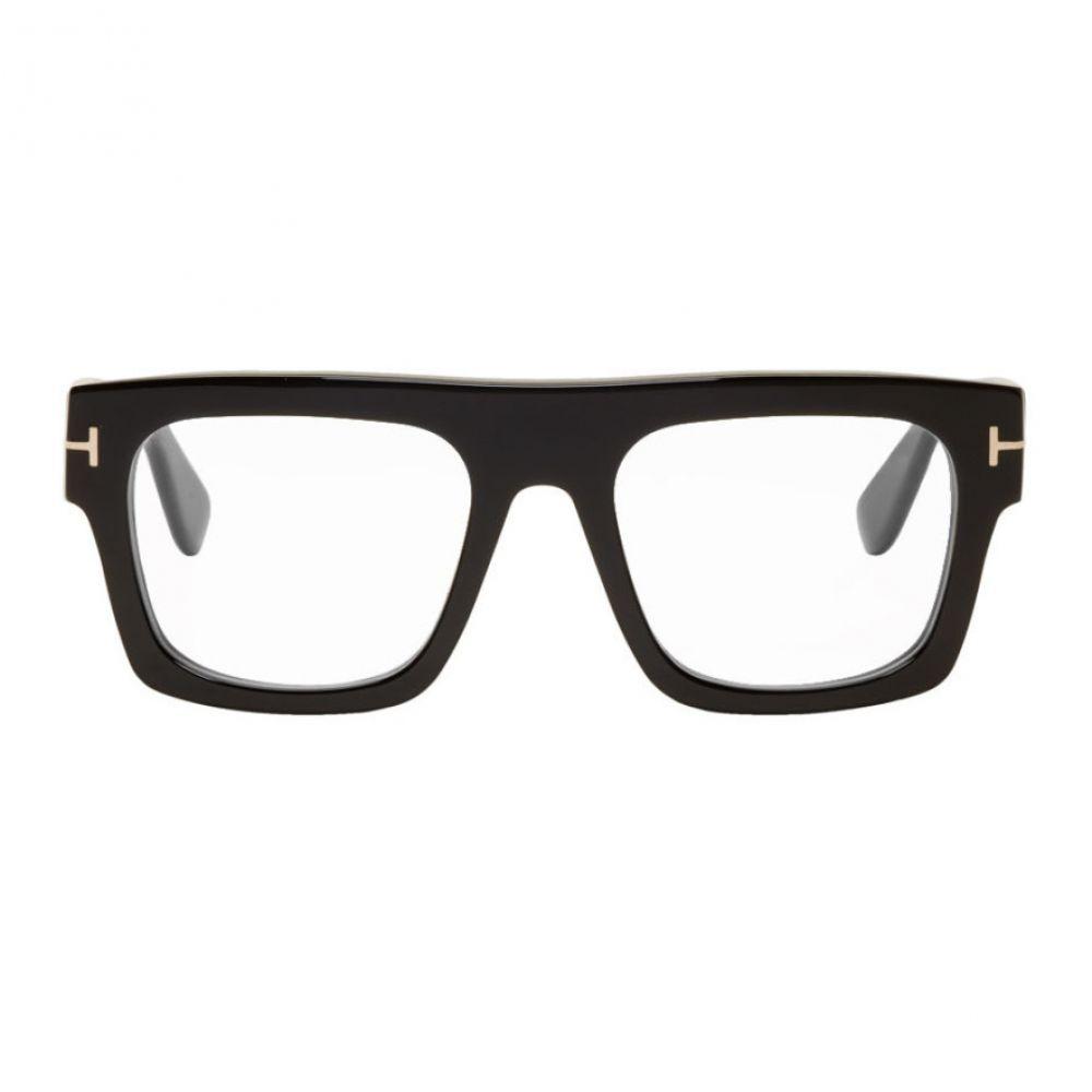 トム フォード Tom Ford メンズ メガネ・サングラス 【Black Blue Block Fausto Glasses】Black