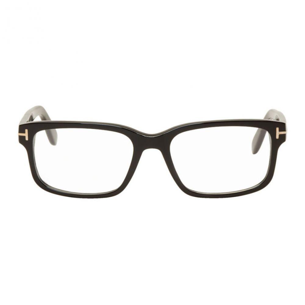 トム フォード Tom Ford メンズ メガネ・サングラス 【Black Square Glasses】Black
