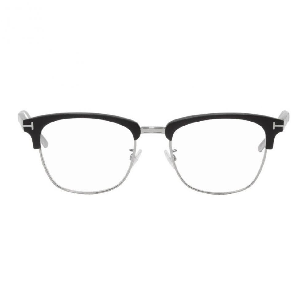 トム フォード Tom Ford メンズ メガネ・サングラス 【Black Blue Block Matte Browline Glasses】Matte black