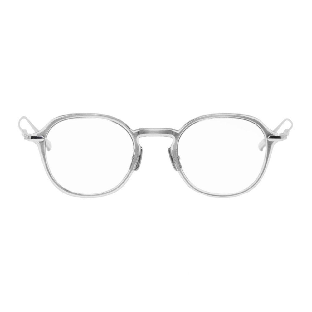 ユウイチ トヤマ Yuichi Toyama メンズ メガネ・サングラス 【Transparent & Silver Logan Glasses】Clear grey/Silver
