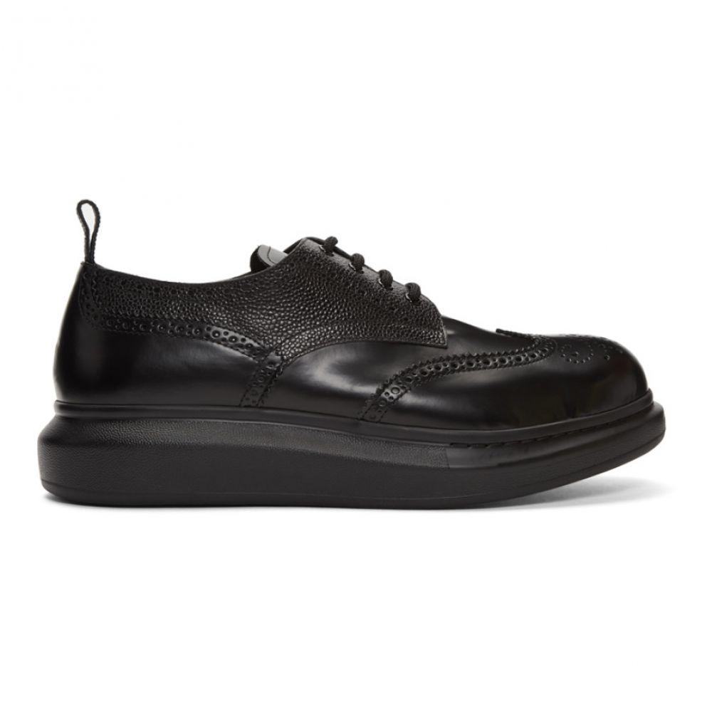 アレキサンダー マックイーン Alexander McQueen メンズ 革靴・ビジネスシューズ メダリオン シューズ・靴【Black Hybrid Brogues】Black