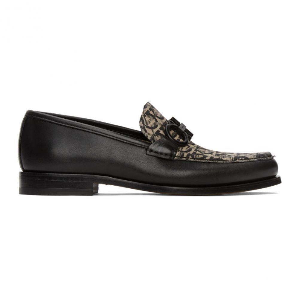 サルヴァトーレ フェラガモ Salvatore Ferragamo メンズ ローファー シューズ・靴【Black & Beige Rolo 8 Loafers】Black/Beige