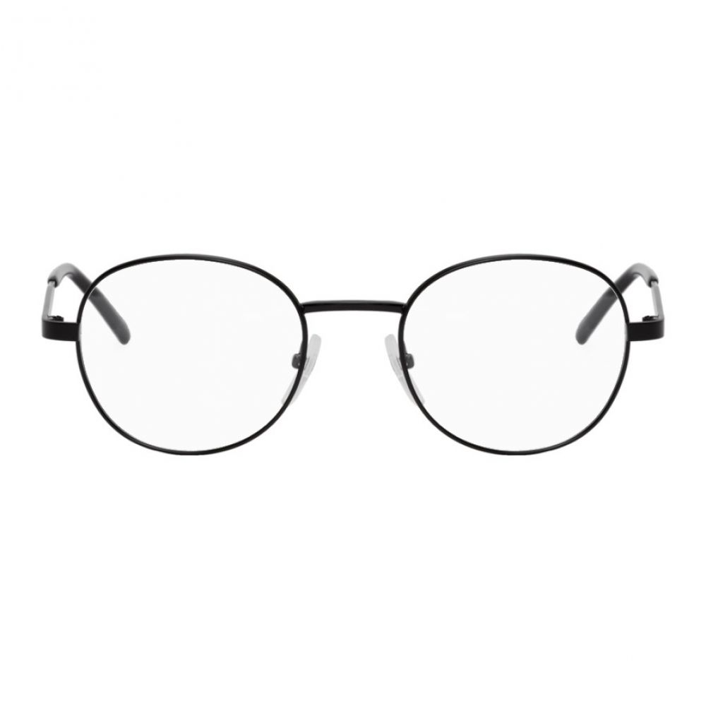 バレンシアガ Balenciaga メンズ メガネ・サングラス 【Black Metal Round Glasses】Black