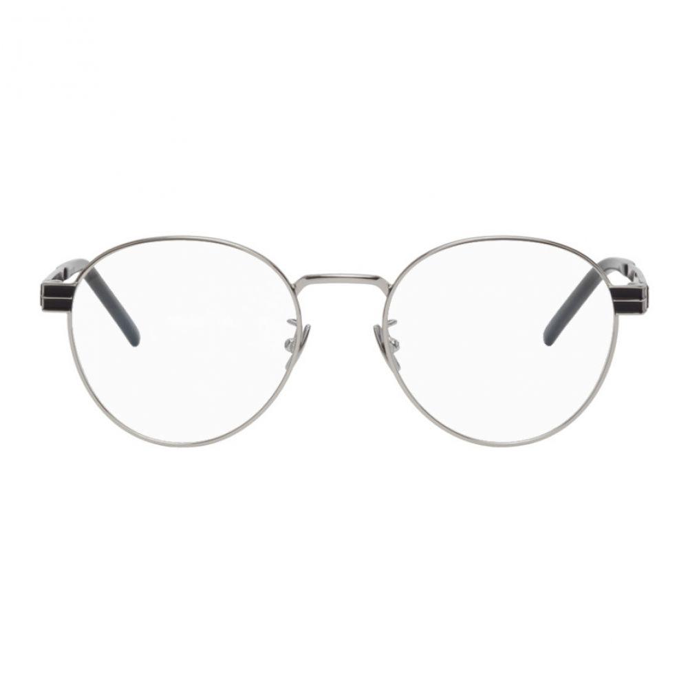 イヴ サンローラン Saint Laurent メンズ メガネ・サングラス 【Silver SL M63-001 Glasses】Silver