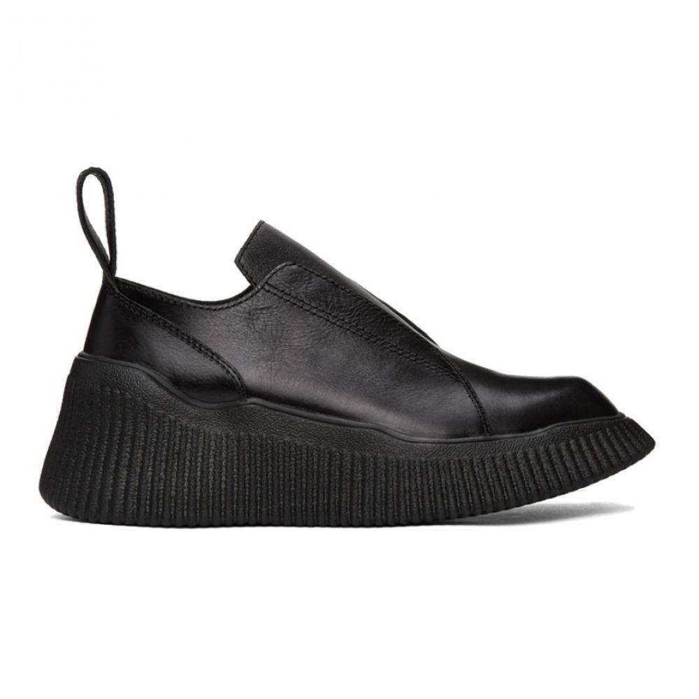 ユリウス Julius メンズ ローファー シューズ・靴【Black Leather Platform Loafers】Black