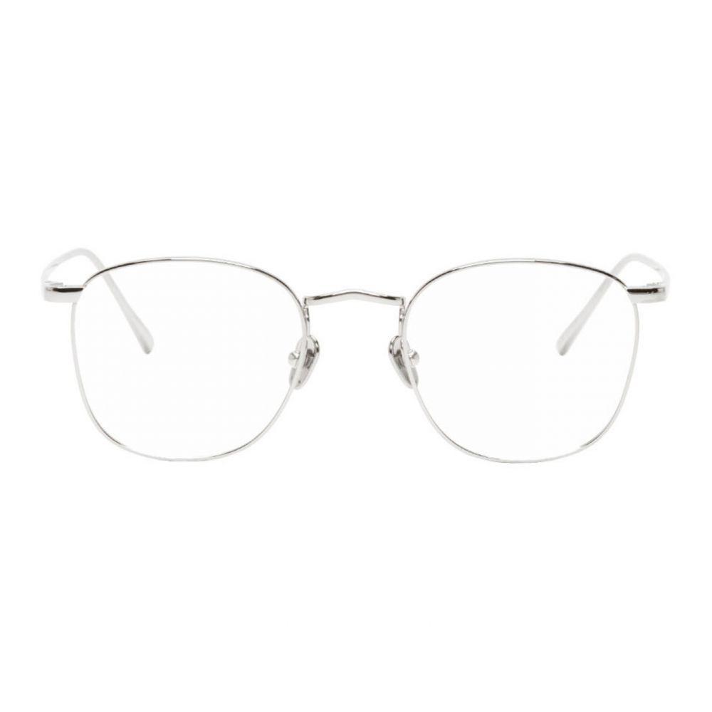 リンダ ファロー Linda Farrow Luxe メンズ メガネ・サングラス 【Silver C479 Glasses】Silver