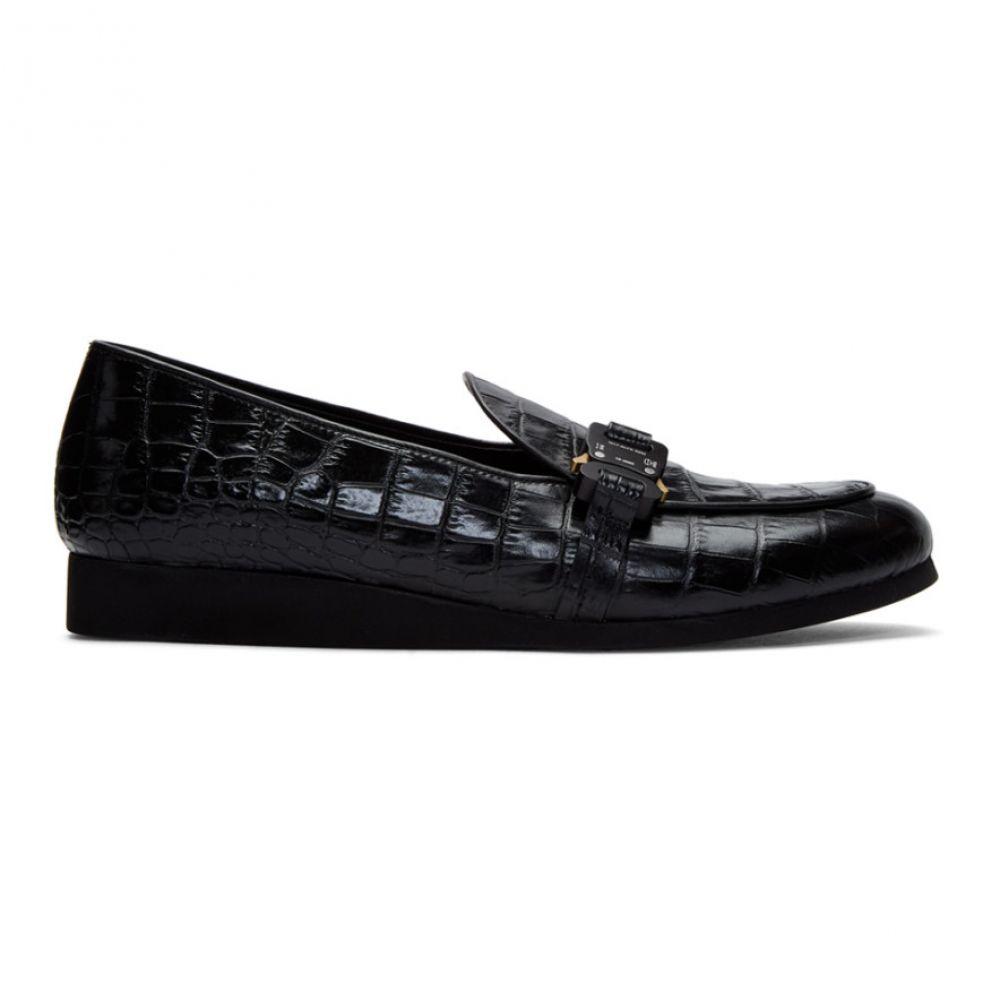 アリクス 1017 ALYX 9SM メンズ ローファー シューズ・靴【Black Croc St. Marks Buckle Loafers】Black
