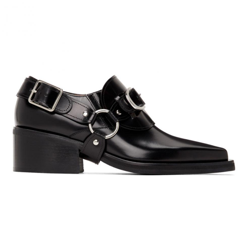 ワイプロジェクト Y/Project メンズ ローファー シューズ・靴【Black Leather Buckle Loafers】Black