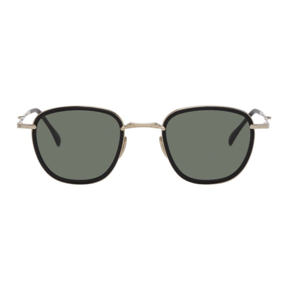 ミスター ライト Mr. Leight メンズ メガネ・サングラス 【Black & Gold Griffith Sunglasses】Matte black/Gold