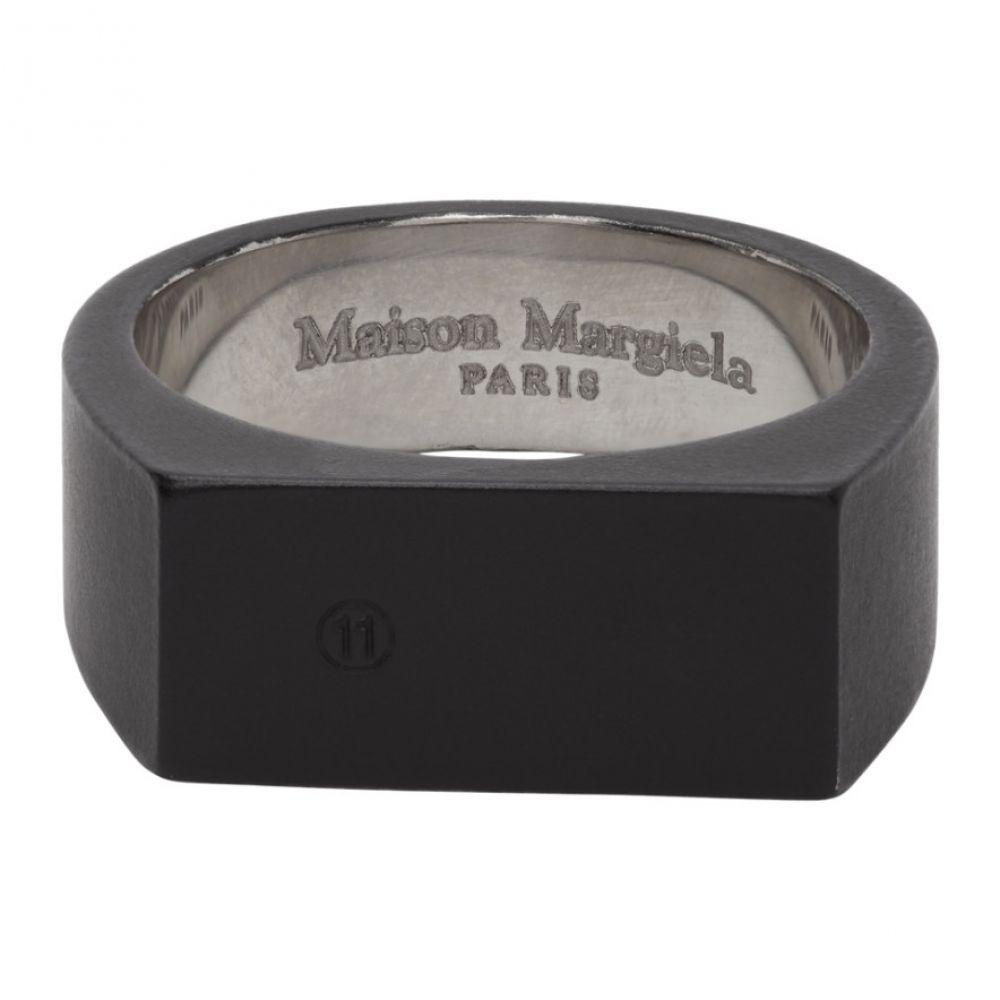 メゾン マルジェラ Maison Margiela メンズ 指輪・リング ジュエリー・アクセサリー【Black Signet Ring】Black/Silver
