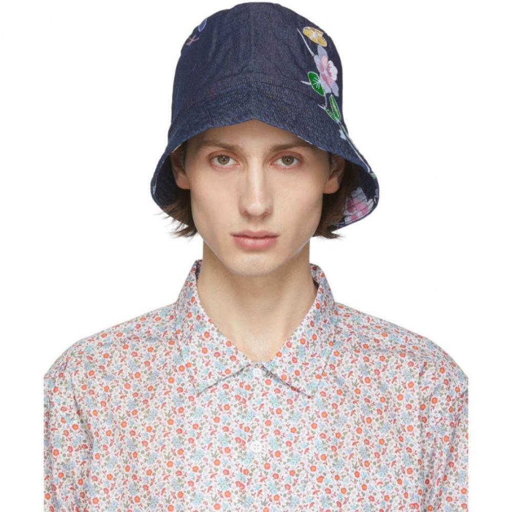エンジニアードガーメンツ Engineered Garments メンズ ハット バケットハット 帽子【Indigo Denim Floral Bucket Hat】Indigo