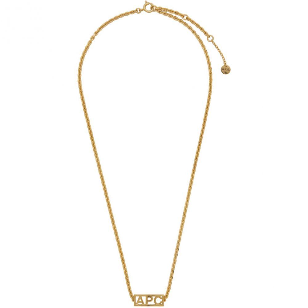 アーペーセー A.P.C. メンズ ネックレス ジュエリー・アクセサリー【Gold Noa Necklace】Gold