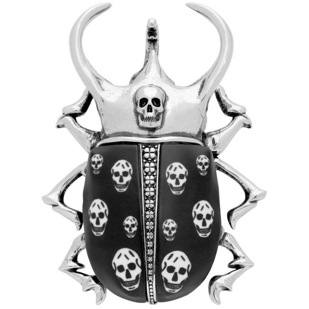 アレキサンダー マックイーン Alexander McQueen メンズ ジュエリー・アクセサリー 【Silver Brass Skull Brooch】Silver
