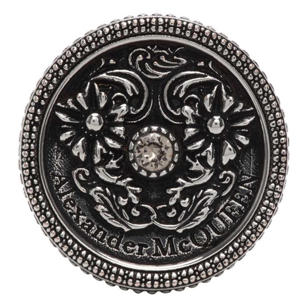 アレキサンダー マックイーン Alexander McQueen メンズ 指輪・リング ジュエリー・アクセサリー【Silver Medallion Ring】Greige