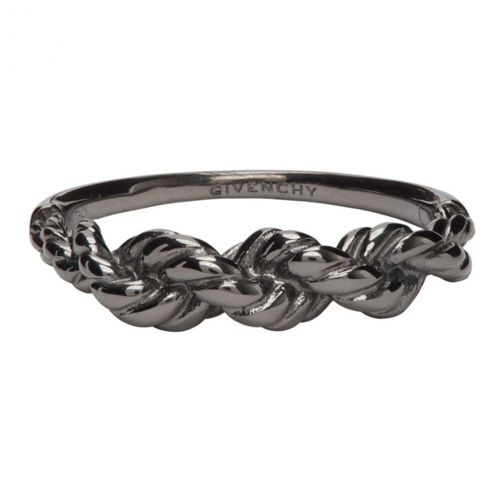 ジバンシー Givenchy メンズ 指輪・リング ジュエリー・アクセサリー【Black Braided Ring】Black