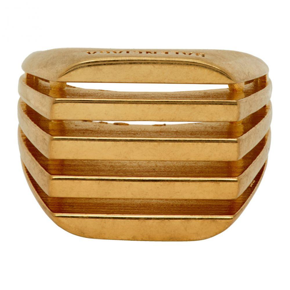 バレンシアガ Balenciaga メンズ 指輪・リング ジュエリー・アクセサリー【Gold Bone Ring】Gold