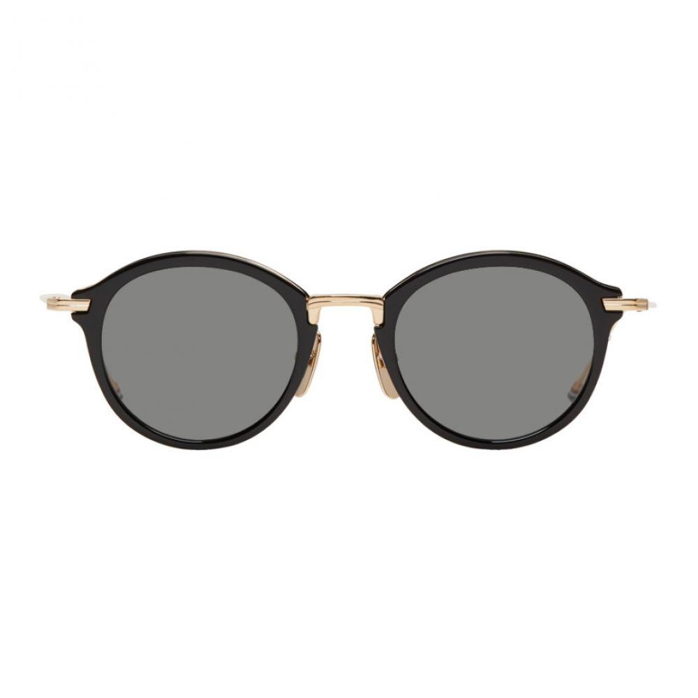 トム ブラウン Thom Browne メンズ メガネ・サングラス 【Black TBS908 Sunglasses】Black/Gold