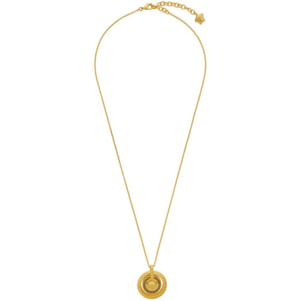 ヴェルサーチ Versace メンズ ネックレス メデューサ ジュエリー・アクセサリー【Gold & Black Chain Medusa Necklace】Gold/Black