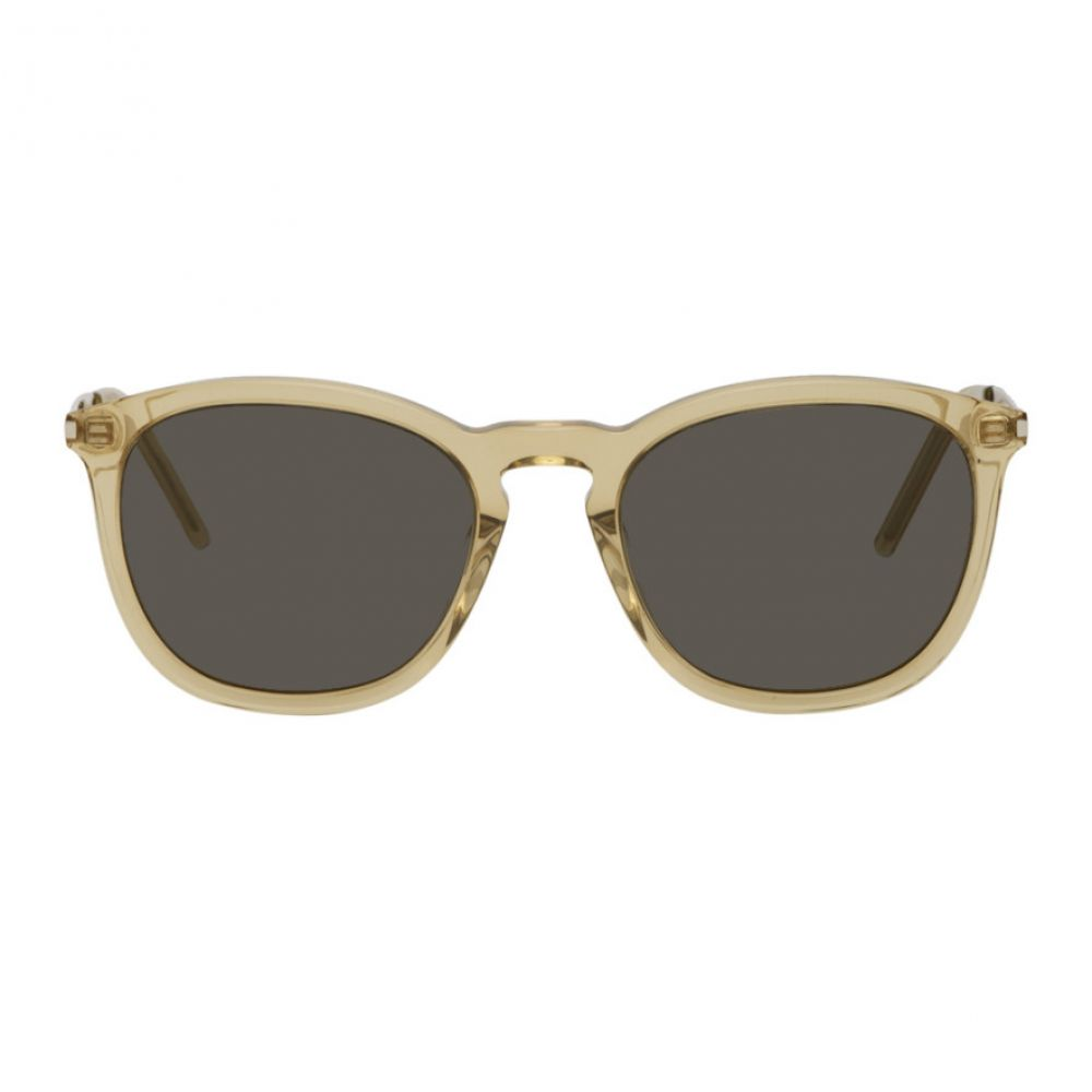 イヴ サンローラン Saint Laurent メンズ メガネ・サングラス 【Yellow SL 360 Sunglasses】Yellow