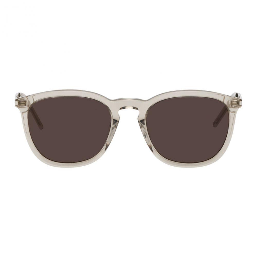 イヴ サンローラン Saint Laurent メンズ メガネ・サングラス 【Beige SL 360 Sunglasses】Brown