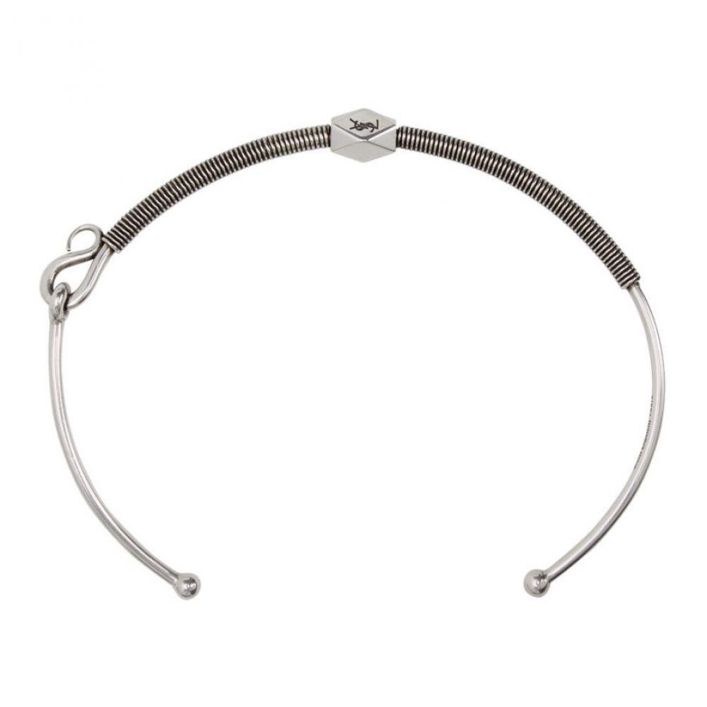 イヴ サンローラン Saint Laurent メンズ ネックレス ジュエリー・アクセサリー【Silver Tribal Coiled Necklace】oxidized silver