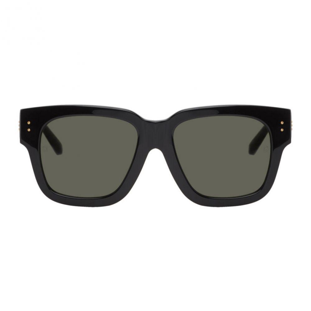 リンダ ファロー Linda Farrow Luxe メンズ メガネ・サングラス 【Black & Gold Seymour Sunglasses】Black/Yellow gold