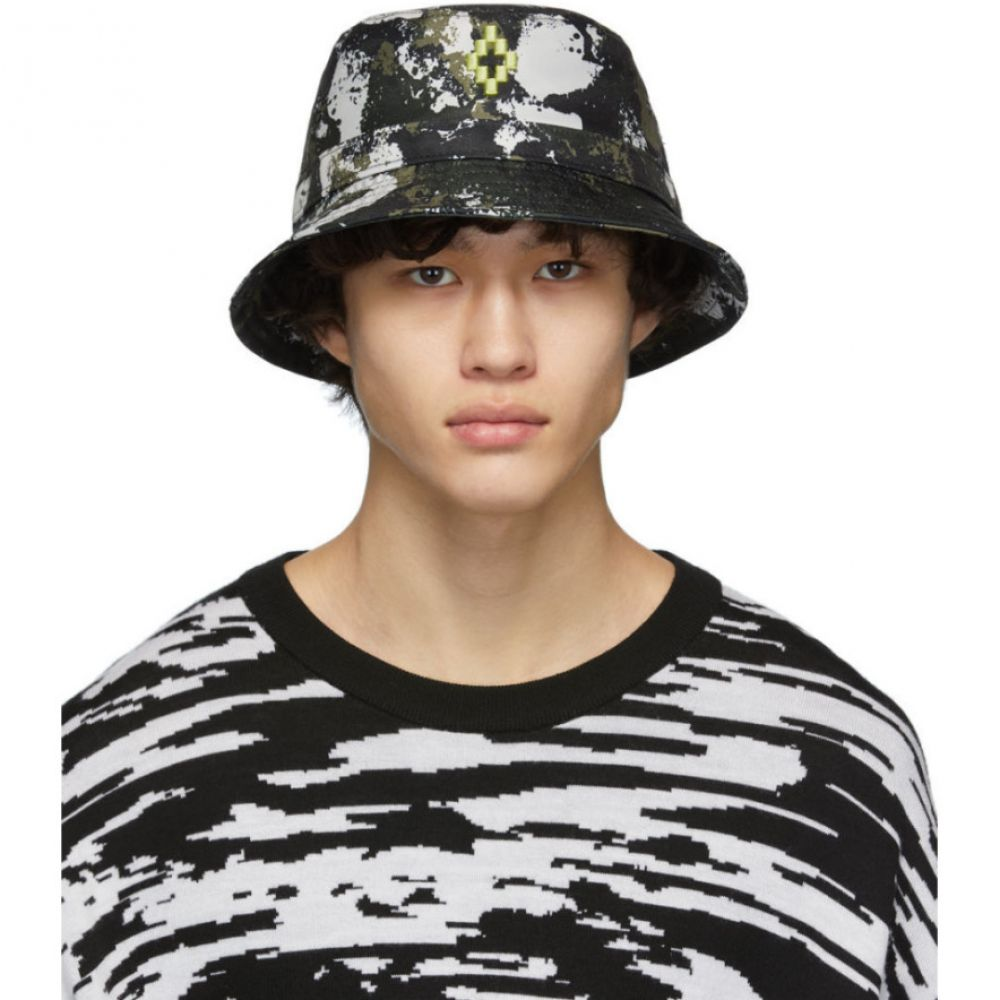 マルセロバーロン Marcelo Burlon County of Milan メンズ ハット バケットハット 帽子【Green Camouflage Bucket Hat】Beige/Green