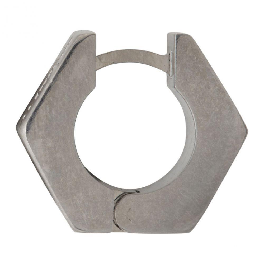 オフホワイト Off-White メンズ イヤリング・ピアス ジュエリー・アクセサリー【Silver Single Hexnut Earring】Silver