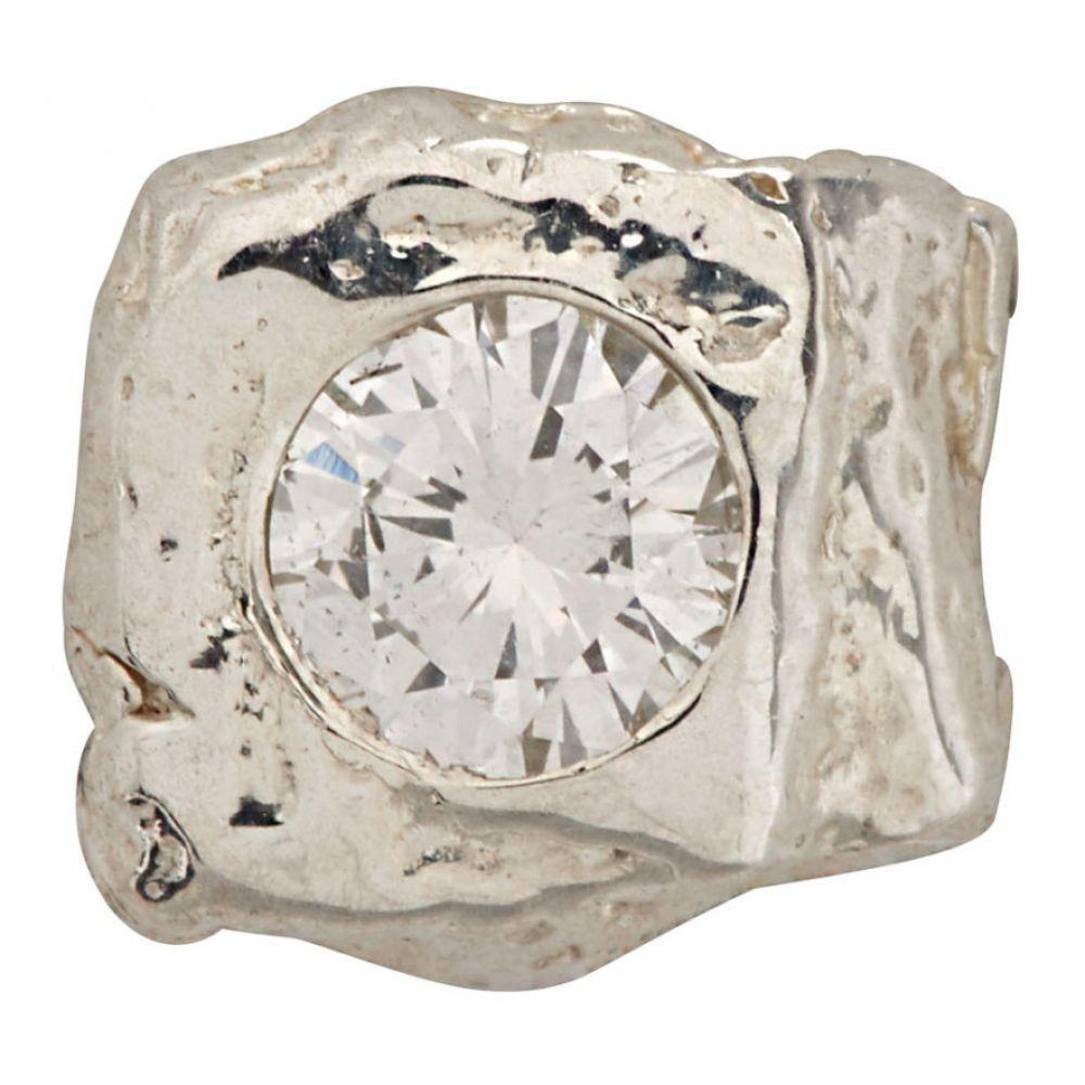 パールズ ビフォア スワイン Pearls Before Swine メンズ イヤリング・ピアス スタッドピアス ジュエリー・アクセサリー【Silver Single Stud Earring】Silver/White