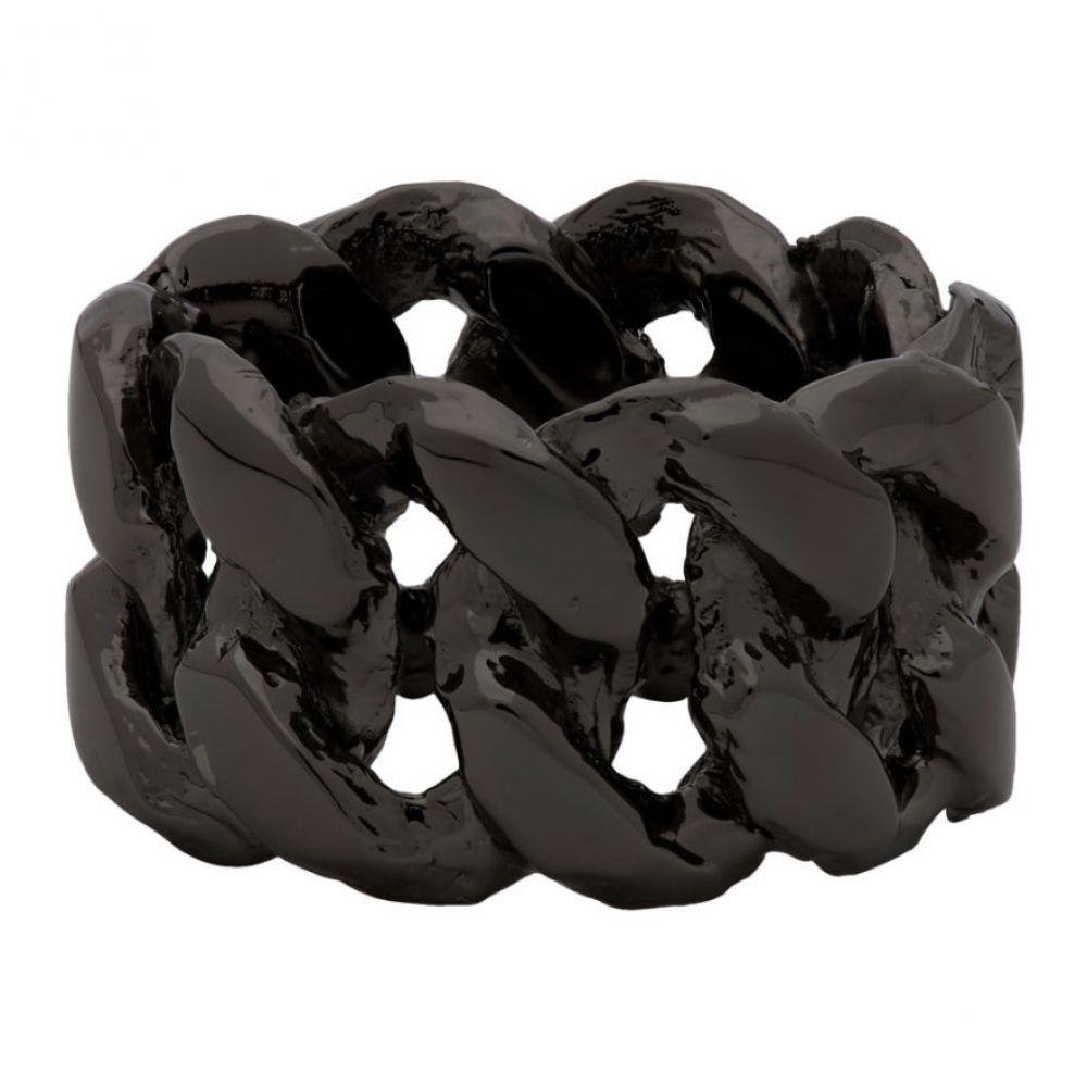 パールズ ビフォア スワイン Pearls Before Swine メンズ 指輪・リング ジュエリー・アクセサリー【Gunmetal Xl Chrome Link Ring】silver