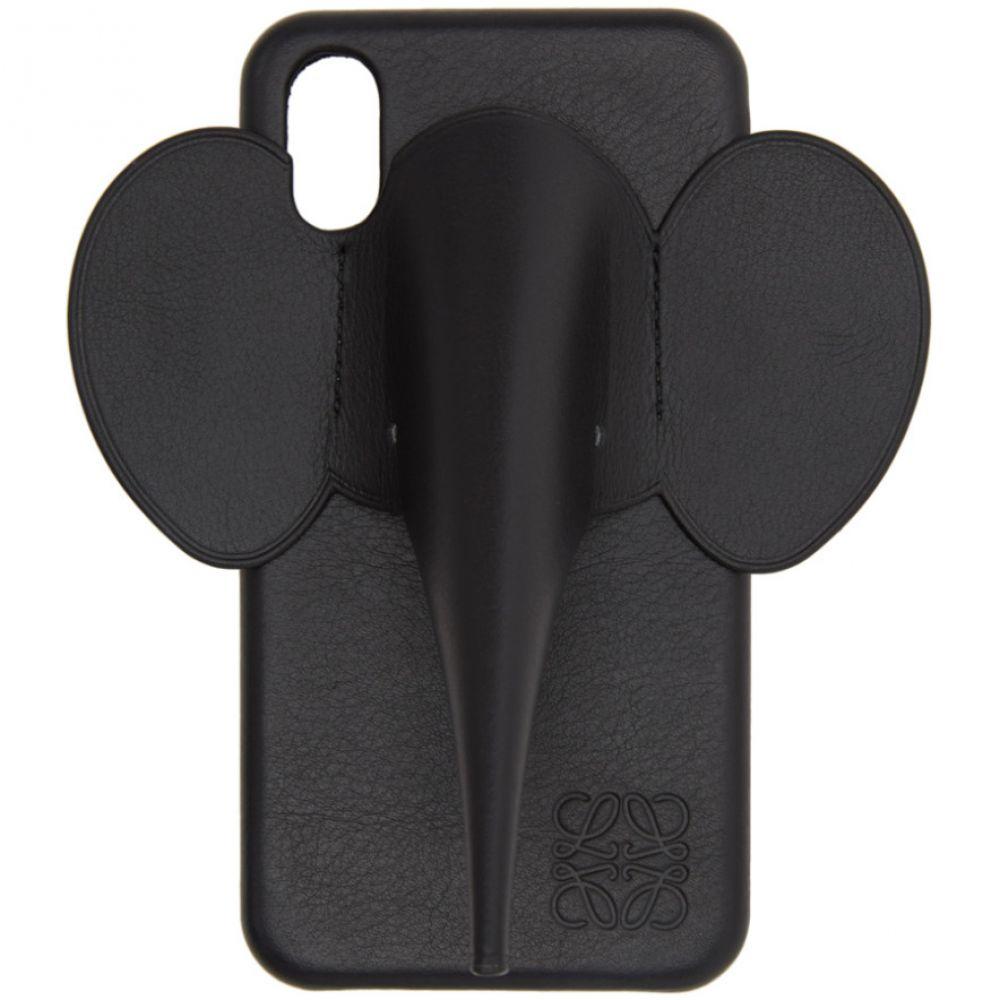 ロエベ Loewe メンズ iPhone (X)ケース 【Black Elephant iPhone XS Max Case】Black