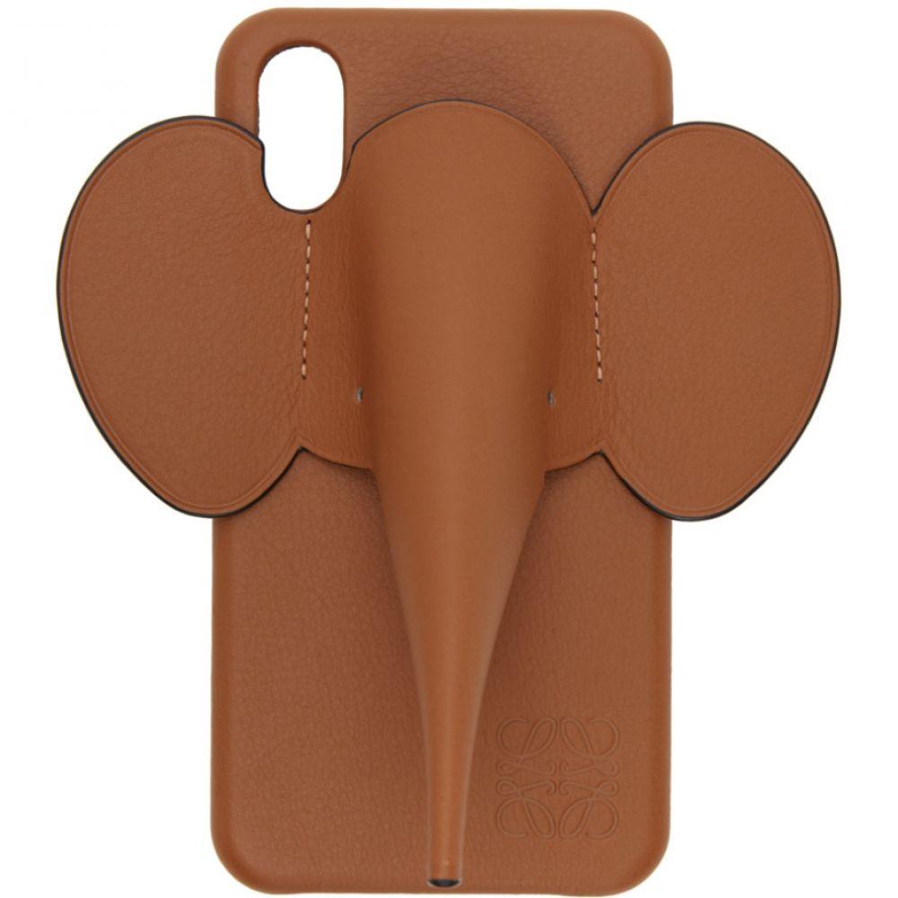 ロエベ Loewe メンズ iPhone (X)ケース 【Brown Elephant iPhone X/XS Case】Tan
