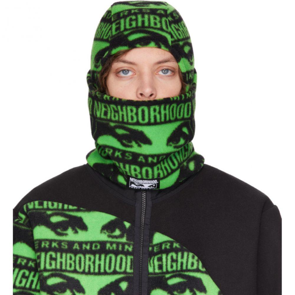 パークスアンドミニ Perks and Mini メンズ 帽子 フェイスマスク【Black & Green Neighborhood Edition Balaclava】Black