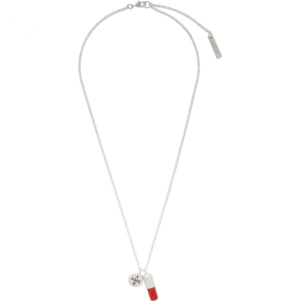アンブッシュ Ambush メンズ ネックレス チャーム ジュエリー・アクセサリー【Silver & Red Pill Charm Necklace】Silver/Red