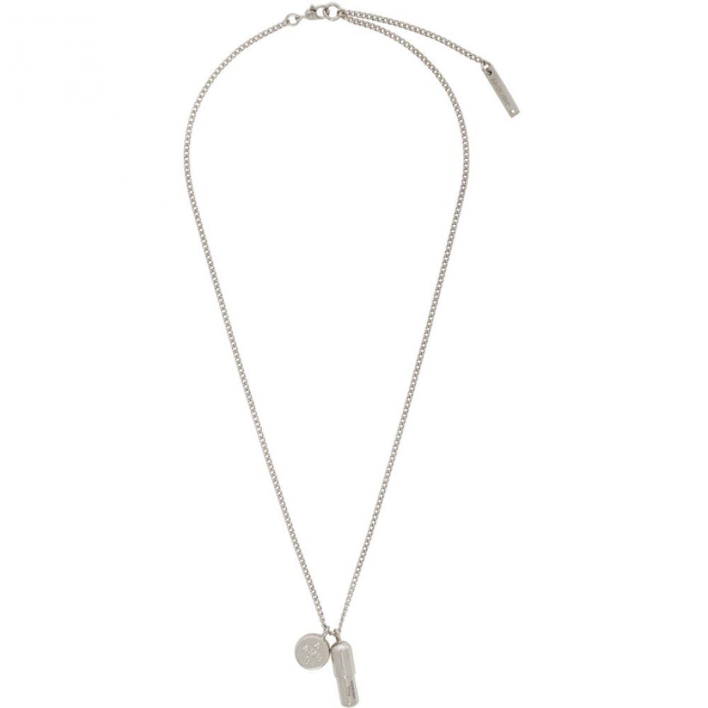 アンブッシュ Ambush メンズ ネックレス チャーム ジュエリー・アクセサリー【Silver Pill Charm Necklace】Silver