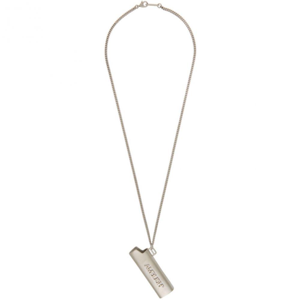 アンブッシュ Ambush メンズ ネックレス ジュエリー・アクセサリー【Silver Small Lighter Case Necklace】Silver