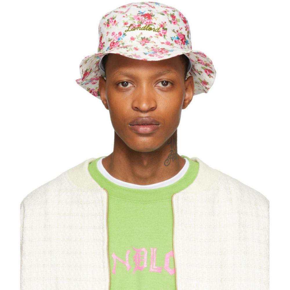 ランドロード Landlord メンズ ハット バケットハット 帽子【Off-White Floral Logo Bucket Hat】Floral