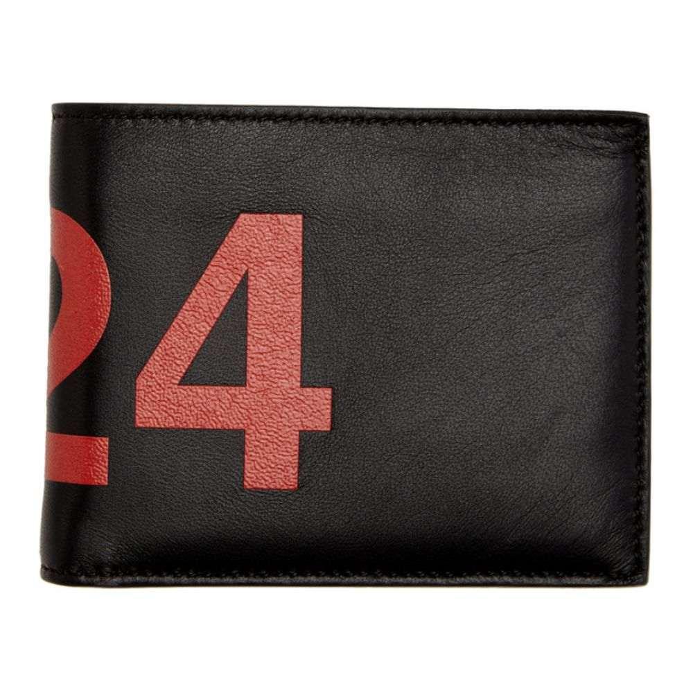 フォートゥーフォー 424 メンズ 財布 【Black Leather Wallet】Black