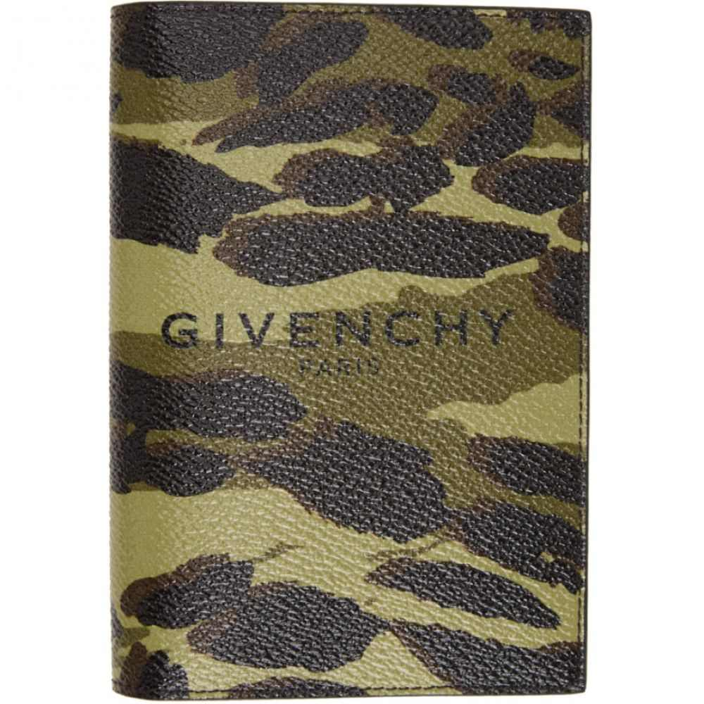ジバンシー Givenchy メンズ パスポートケース 【Green & Brown Camouflage Passport Holder】Multi