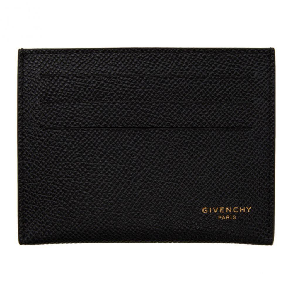 ジバンシー Givenchy メンズ カードケース・名刺入れ カードホルダー【Black Calfskin 3CC Card Holder】Black