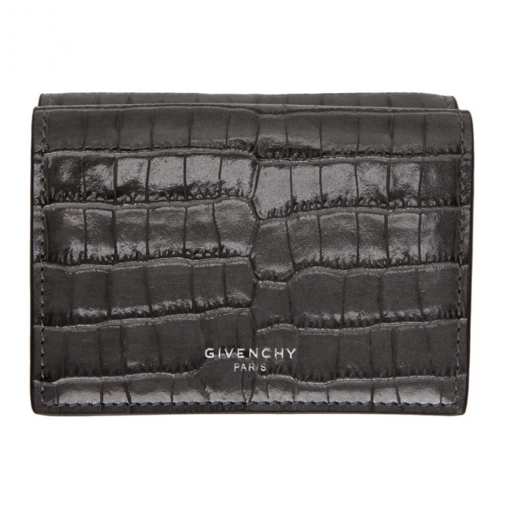 ジバンシー Givenchy メンズ 財布 【Grey Croc Compact Wallet】Grey/Orange