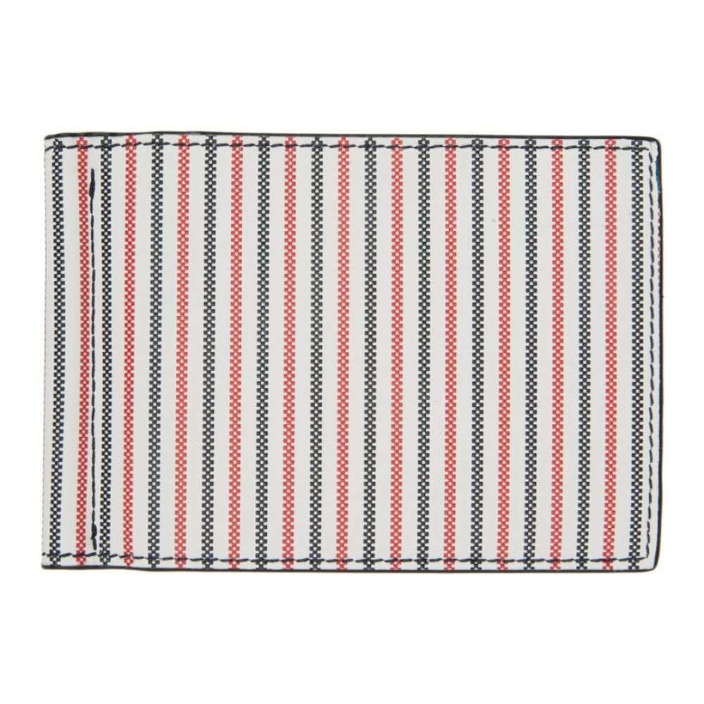 トム ブラウン Thom Browne メンズ 財布 【White Double Sided 3-D Seersucker Wallet】RWB/White