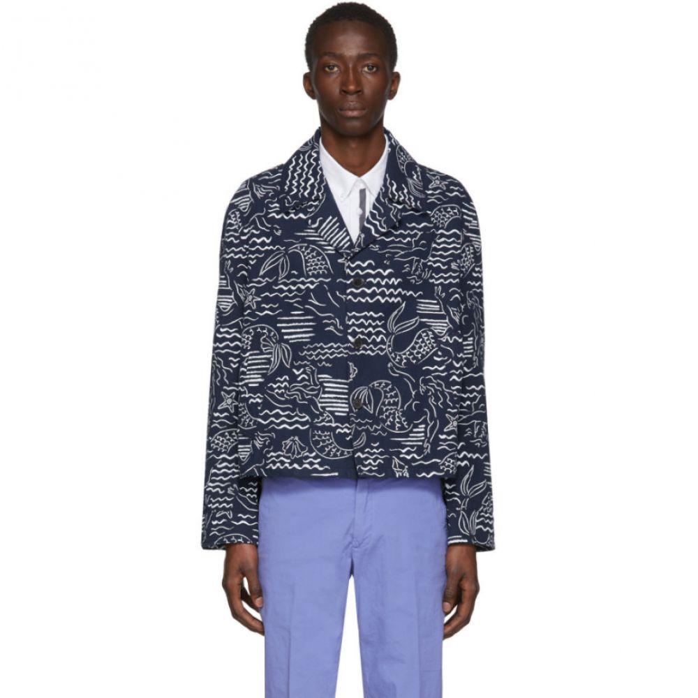 ケンゾー Kenzo メンズ ジャケット Gジャン アウター【Blue Denim Workwear Jacket】Midnight