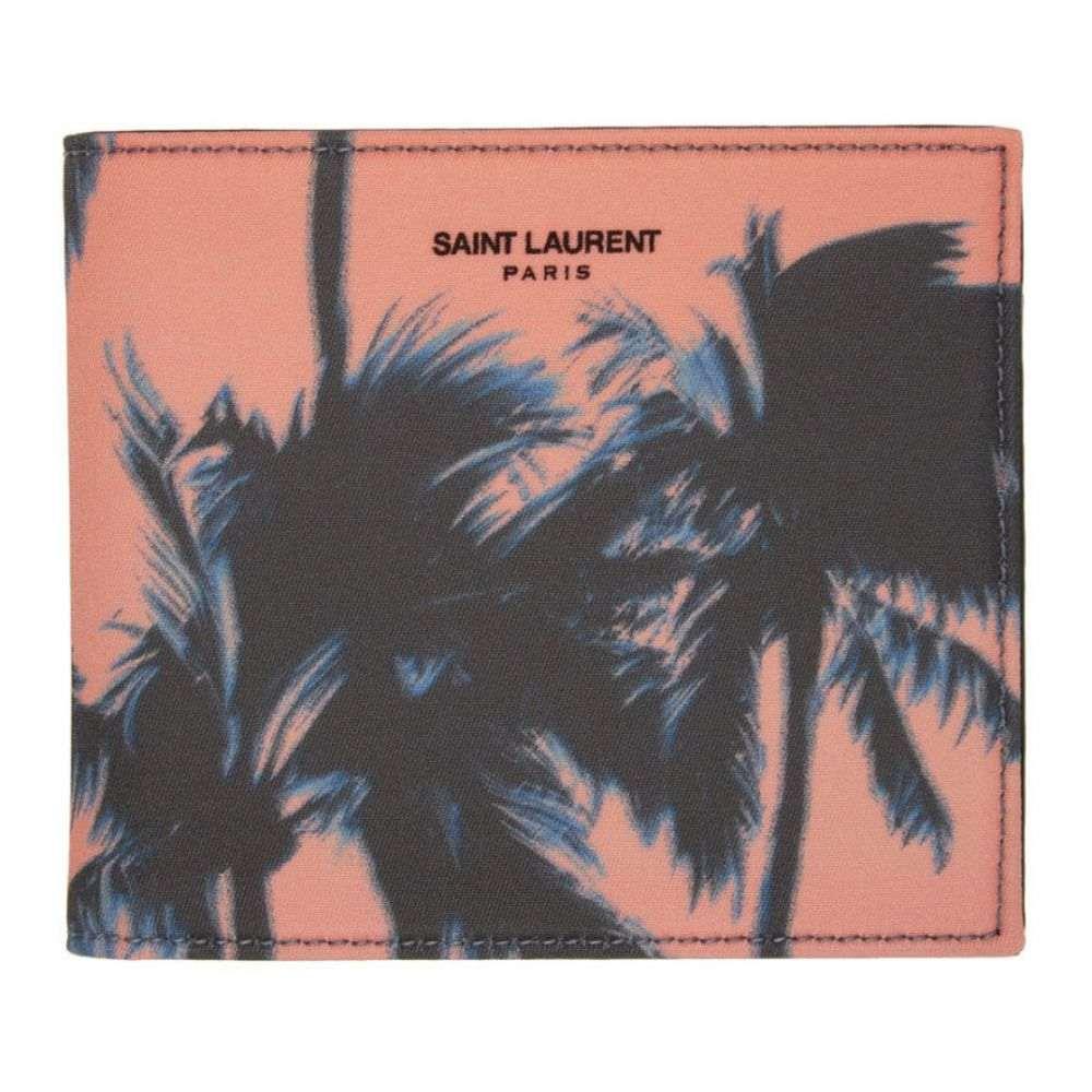 イヴ サンローラン Saint Laurent メンズ 財布 【Pink Dip-Dye Palm Wallet】Sunset